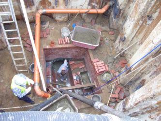 08 Schachtbauwerk mit prov. Überleitung