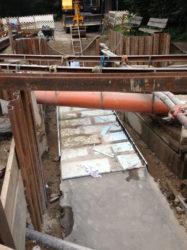 5. neu aufgelegte FW-Trogkanaldecke mit Styrodurabdeckung zur Trennung zum späteren Überbaus des Regenwassertrogkanals