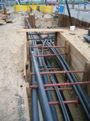 b130 Rohrverlegung unter vorh. Schutzrohrtrasse